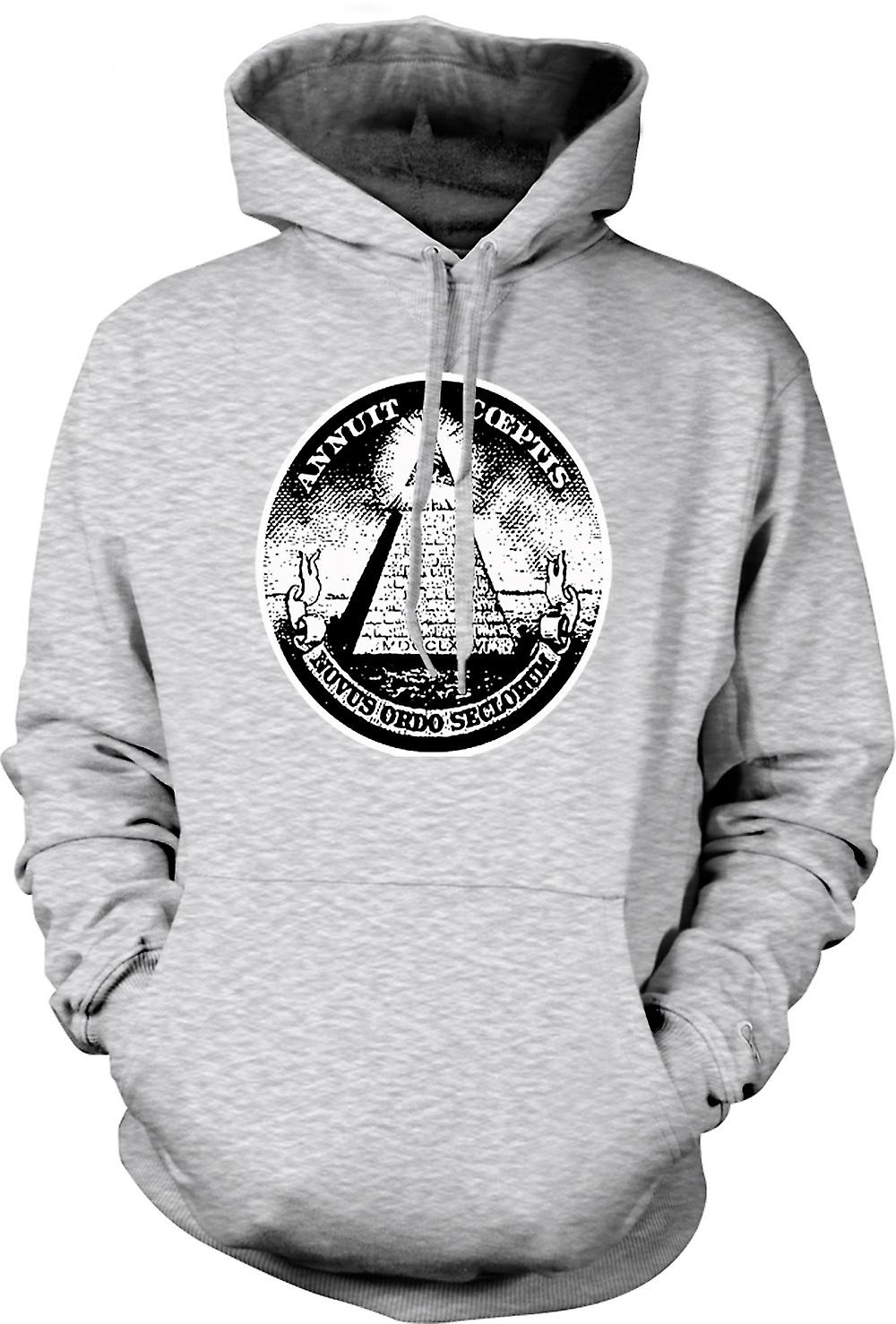 Mens Hoodie - Illuminati - cospirazione dollaro