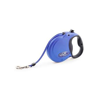 Blau Viva 5m Retractable Lead - klein bis zu 20kg