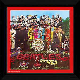 The Beatles Sgt Pepper Framed Album Cover Print 12x12in
