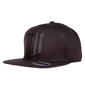 Call of Duty: Black Ops IIII Snapback Cap Logo schwarz, aus 100 % Baumwolle, Größe verstellbar.