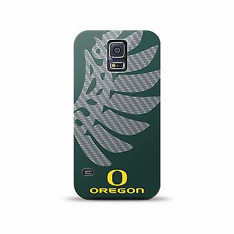 Mizco Sports NCAA Oversized Snapback TPU Case for Samsung Galaxy S5 (Oregon Duck
