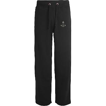 Green Howards - Licensed British Army Embroidered Open Hem Sweatpants / Jogging Bottoms