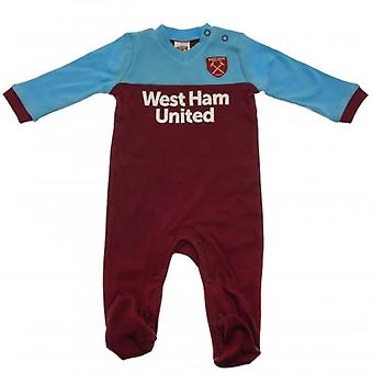 West Ham United Sleepsuit 12/18 mths ST