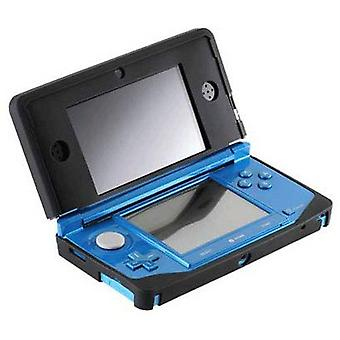 Protective silicone rubber gel cover case skin for nintendo 3ds - black