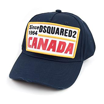 Dsquared2 Patch Embroidered Canada Baseball Cap Navy