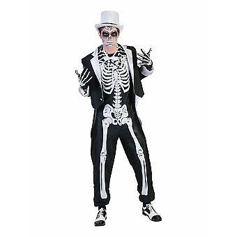 Horror Groom Skeleton Abito Scheletro Halloween Costume da Uomo