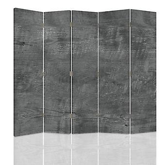 Room Divider, 5 Panels, Double-Sided, Rotatable 360 ??° Canvas, Timber Gray
