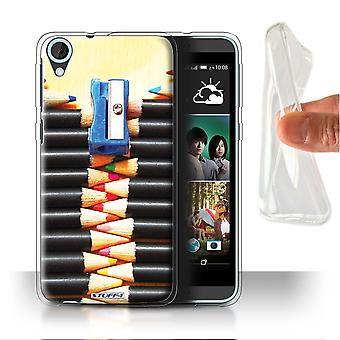 STUFF4 Gel/TPU Case/Cover for HTC Desire 820s Dual/Pencils/Zip/Abstract Art