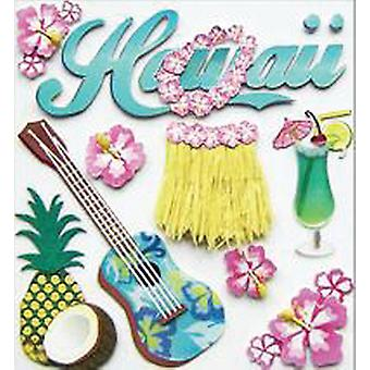 Jolee's Boutique Dimensional Destination Stickers Hawaii E5020445