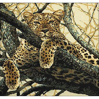 Leopard Counted Cross Stitch Kit-23.5