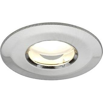 LED flush mount light 3-piece set 21 W Warm white Paulmann Coin 92849 Iron (brushed)