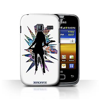 STUFF4 Case/Cover for Samsung Galaxy Y Duos/S6102/Rock Chick White/Rock Star Pose