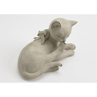 Amadeus Cat Sprawled Lucien Beige (Home , Decoration , Figures)