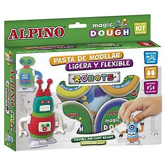 Alpino Dough Magic Robots 6 x 40 Gr.
