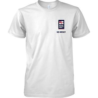RN Ice Hockey Logo 2 - Royal Navy Sports T-Shirt Colour