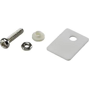 Semiconductor mounting set (L x W) 18 mm x 13 mm Suitable for TO 220 SCI 1 Set
