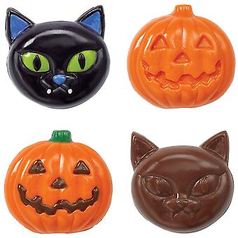 Candy Mold-6 Cavity Cat/Pumpkin W0222