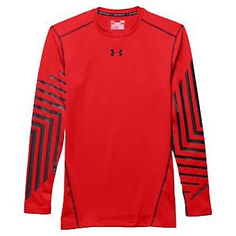 Under Armour men's Kompressionsshirt UA ColdGear® armour graphic color rocket Red