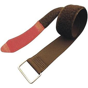 Hook-and-loop tape with strap Hook and loop pad (L x W) 600 mm x 38 mm Black, Red Fastech F101-38-600M 1 pc(s)