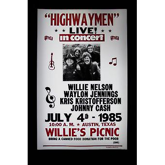 Highway Men retro concert poster