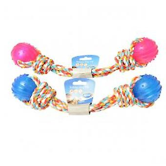 Duvo+ Tpr 2 Balls Dog Toy Rope (Dogs , Toys & Sport , Balls)