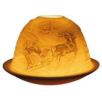 Light-Glow Reindeer Lithophane Dome Tealight Candle Holder