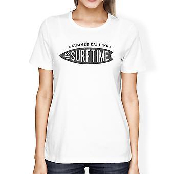 Sommeren opfordrer sine Surf tid Tshirt til kvinder rund hals bomuld Top