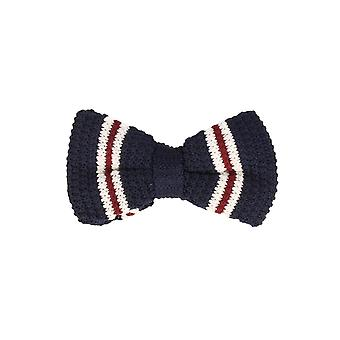 Marcell Sanders men fly loop tie cotton knitted look bound blue white red