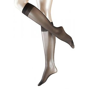 Falke Matt Deluxe 20 Denier Transparent Matt knä höga Tights - antracit