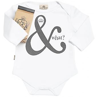 Spoilt Rotten And What Long Sleeve Organic Baby Grow In Gift Milk Carton