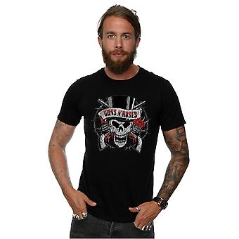 Guns N Roses hombres agobiados cabeza t-shirt de muerte