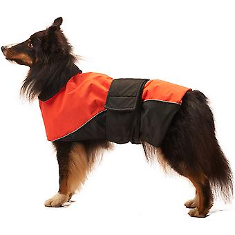 Dog Waterproof Reflective Coat-Orange Extra Large 701597