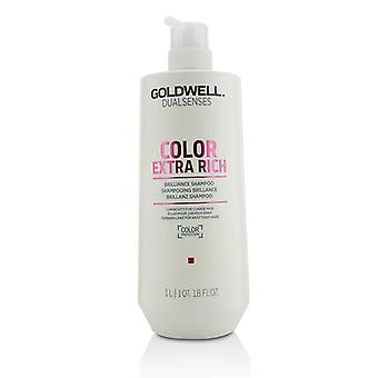 Goldwell Dual Senses Color Extra Rich Brilliance Shampoo (Luminosity For Coarse Hair) - 1000ml/33.8oz