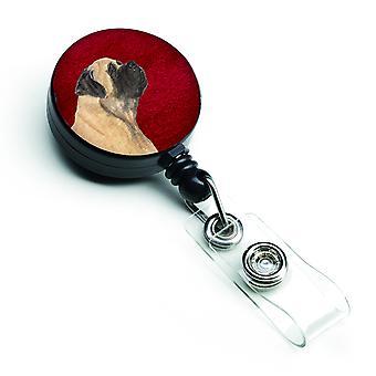 Carolines Treasures  SS6024BR Mastiff Retractable Badge Reel or ID Holder with C