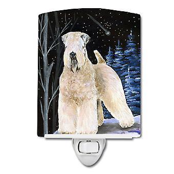 Sternennacht Wheaten Terrier weich beschichtete Keramik Nachtlicht