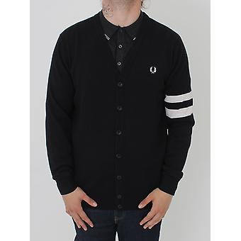 Fred Perry Fred Perry Tipped Sleeve Cardigan - Black