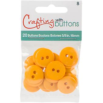 Small Color Buttons 20/Pkg-Yellow 5/8
