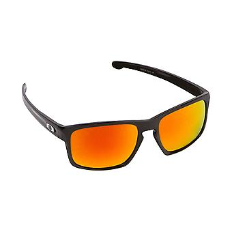 Best SEEK Polarized Replacement Lenses for Oakley SLIVER Black Red Mirror