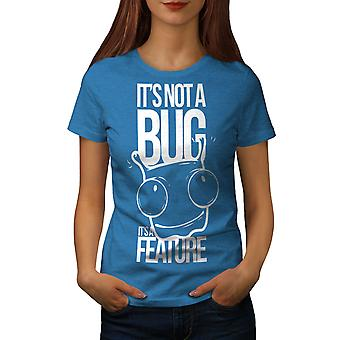 Not A Bug Geek Women Royal BlueT-shirt | Wellcoda