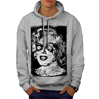 Famous Celebrity Monroe Men GreyHoodie | Wellcoda