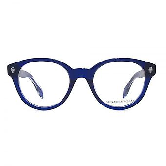 Alexander McQueen Ghost Skull AM0028 Glasses In Blue