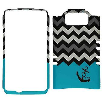 Unlimited Cellular Rocker Snap-On Case for Motorola Droid Maxx - Black Anchor &