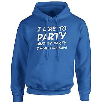 Jag gillar att festa jag menar ta tupplurar roliga Unisex Hoodie 10 färger (S-5XL) av swagwear