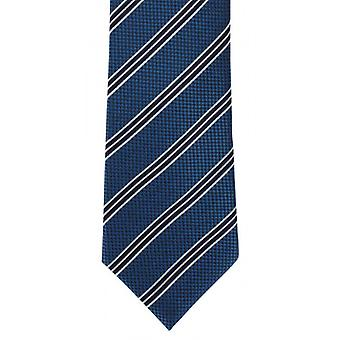Michelsons of London College Stripe Silk Tie - Teal
