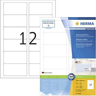 Herma 4666 Labels (A4) 88.9 x 46.6 mm Paper White