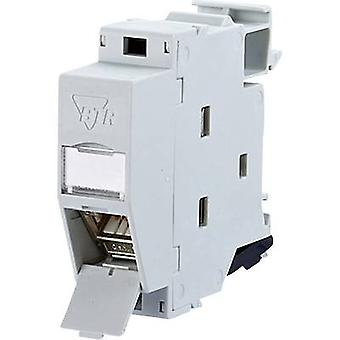 Network outlet DIN rail CAT 6A Metz Connect 130B127003-E