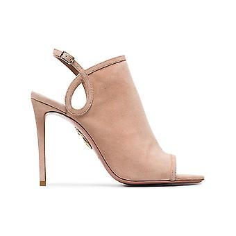 Aquazzura ladies GYAHIGS0SUEPWP105 pink suede leather heel shoes