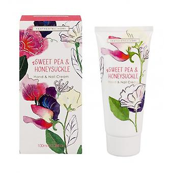 Heathcote & Ivory Sweet Pea & Honeysuckle Hand & Nail Cream 100ml