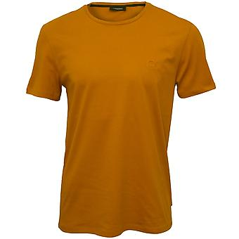 Calvin Klein Jari Embossed Logo Crew-Neck T-Shirt, Buckthorn Brown