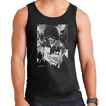 Phil Lynott Of Thin Lizzy Playing Acoustic 1976 Men's Vest